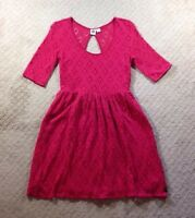 EUC Women's Roxy Out There Red Lace Sundress-size M