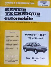 NEUF Revue technique PEUGEOT 309 ESSENCE GL GR PROFIL 1118 et 1294 RTA CIP 4661