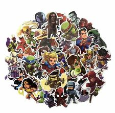 Superheroes in Action Assorted Decals Lot of 50 Stickers