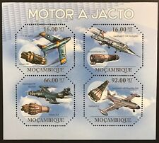 MOZAMBIQUE JET AIRPLANE & ENGINE OCTAGON SHAPED STAMPS SHEET 2011 MNH AIRCRAFT