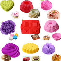 Large Round Silicone Cake Mold Pan Muffin Bread Pizza Pastry Bakeware Baking
