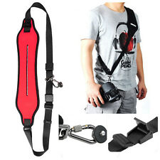 Hot Camera Quick Rapid Shoulder Neck Strap Belt f Canon Nikon Sony Olympus-Red
