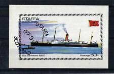 ISLE OF STAFFA 1975 SHIPS MINIATURE SHEET CTO