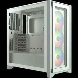 Corsair ICUE 4000X RGB Tempered Glass Mid-Tower ATX Case White