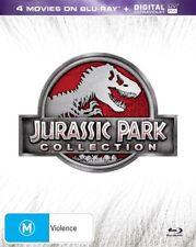 The Jurassic Park / Jurassic Park - Lost World / Jurassic Park III / Jurassic World (DVD, 2015, 4-Disc Set)