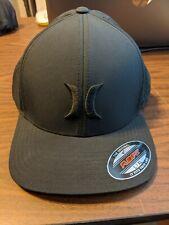 Hurley Phantom FlexFit Hat - Size L/XL - Black with Black Hurley symbol and mesh