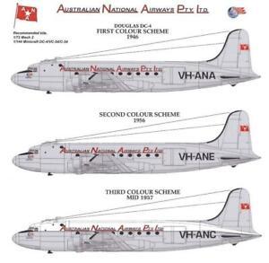 1/72 Australian National Airways (ANA) DECALS; Douglas DC-4, 1946 - 1957 REVELL