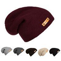 Unisex Mens Women Slouch Baggy Oversized Winter Warm Ski Rib Knit Beanie Hat Cap