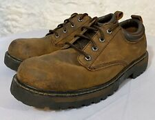 """""""Alley Cats"""" Distress Leather Work Shoe Skechers Mens Size 11 Lace Up Oxford"""