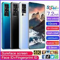 "X50 Pro 7.2"" 5G Smartphone Android 10.0 10-Core 6800 mah 8GB+256GB MTK6889"