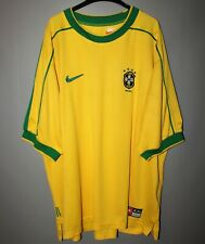 BRASIL BRAZIL HOME 1998 1999 2000 WORLD CUP NIKE FOOTBALL SOCCER SHIRT JERSEY