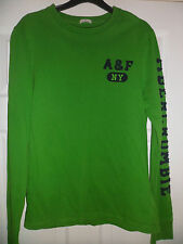 Mens Abercrombie And Fitch Green Cotton Crew Neck Jumper Top Size Medium