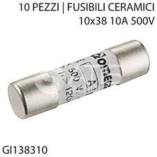 GL 10 FUSIBILI IN CERAMICA MARCA WEBER TIPO CH 10 DA 10X38 2A
