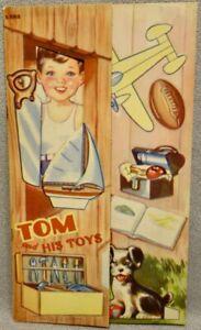 1943 TOM and HIS TOYS - LOWE #523 Paper Doll Book - RARE UNCUT ORIGINAL