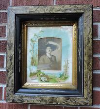 Victorian EASTLAKE Sponge Paint & BLACK Ebony Incised Frame ARTIST Photo 8 x10