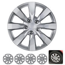4 PC Set 16 Inch Hub Caps Silver Fits 2014 Toyota Corolla Replica Wheel Covers