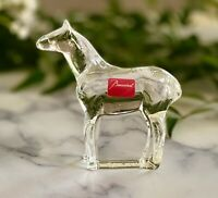 NEW Baccarat Finest French Crystal Noah's Ark Horse Artist Signed Retail $250