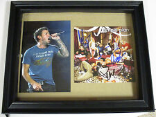 SIMPLE PLAN AUTOGRAPHED SIGNED FRAMED CD COVER 2 WITH SIGNING PICTURE PROOF