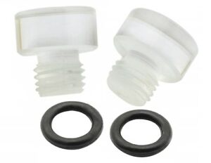 Mr Gasket 6057 Clear - Fuel Bowl Sight Plugs For Holly Carburetors - Pack Of 2