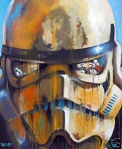 Large Star wars art painting print canvas poster By Andy Baker COA