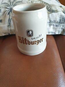Vintage Bitburger bitt ein bit rastal Stoneware Stein  0.5l
