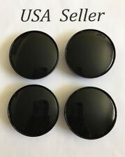 "4 pcs Universal Black  Wheel Center Caps 60mm/ 2 3/8"" Clip Diameter 57mm"