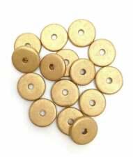 Keramik Scheiben rund weiß 13mm 58 Stück Keramikperlen griechische Perlen rund