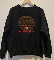 Vintage Louisville Cardinals NCAA Basketball Sweatshirt Mens Size Large Script