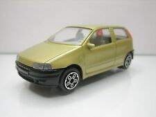 Diecast Bburago Fiat Punto 1:43 Gold Very Good Condition in Box