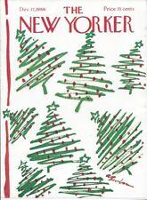 COVER ONLY ~The New Yorker magazine December 17 1966 ~BIRNBAUM ~ Christmas trees