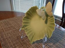 Vintage Fitz and Floyd Leaf Dish with Butterfly, 1982, Beautiful