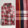 Medium 1970s Mens Flannel Shirt Cotton Plaid Deadstock VTG Long Sleeve Pockets