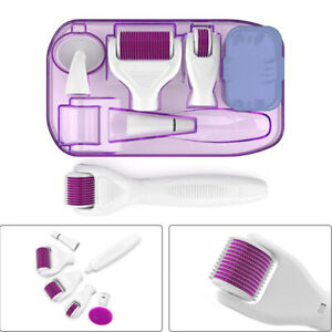 6 in 1 Derma Roller Healthy Face Skin Care Micro Titanium Needle Anti Ageing Kit