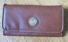 CAPEZIO USA TAN FAUX LEATHER CLUTCH WALLET NEVER USED SMART PHONE SIZE