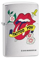 Zippo Lighter: Rolling Stones Tattoo You - Brushed Chrome 80136