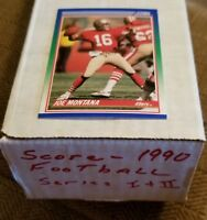1990 Score Football Cards Complete Set, Mint Condition, 660 Cards