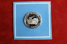 Sehr Selten! 100 Dirhans Silber PP Casino Marrakech -Silber Chip