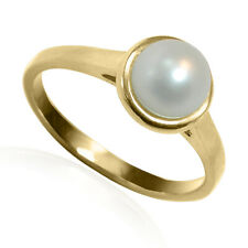 14k Solid Yellow Gold Freshwater Pearl Ring 6.75 mm # R2052