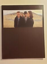 "Vintage U2 ""The Joshua Tree"" 1987 Tour Book w/ Ticket Stub Rare"