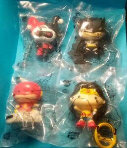 2021 Burger King Justice League New Lot Of  4 Harley Quinn Batman Flash Wonder