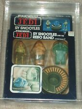 Vintage Star Wars 1984 AFA 75 SY SNOOTLES and The REBO BAND ROTJ BOXED MISB MIB!