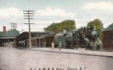 D. L. & W. R. R. DEPOT, ELMIRA, NY 1909 POSTMARK