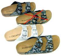 Öko Goldstar Schuhe Damen Bio Pantolette Tieffußbett Hausschuh blau schwarz weiß