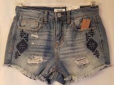 Women's Juniors Mudd Jean Shorts Shortie Distressed High Rise Size 9
