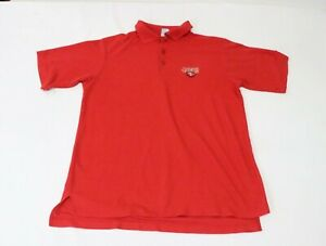 VTG Champion Men's Large 49ERS Red Polo Shirts