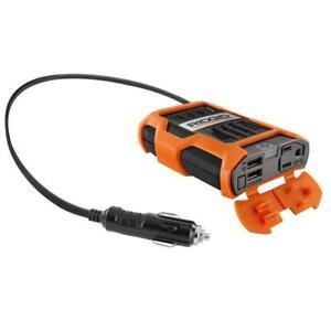 New Ridgid RD97100 100-Watt Power Inverter w/ Two USB Ports And 120 Volt