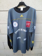 VINTAGE Maillot COUPE de FRANCE porté n°16 ADIDAS goal 2003 keeper worn shirt XL