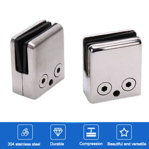 304 Stainless steel Clips Support Brackets 8-10 mm Glass clamp HardwareB SC