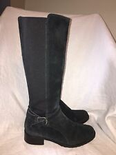 """DONALD J. PLINER """"Bolade"""" Black Suede Riding Boot- Women's size 7.5M"""