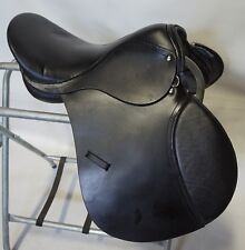 """School Quality EquiRoyal 17"""" Event Winner All Purpose Black Leather Saddle"""